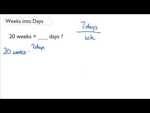 Convert Weeks To Days You