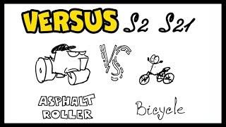 VERSUS — Asphalt Roller vs bicycle | Versus