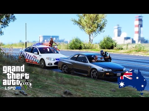 GTA 5 - NSW Police Simulator - Ford Falcon FG XR6 Highway Patrol along Route 68 - #OZTGA