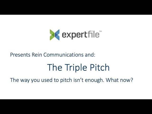 The Tripe Pitch: ExpertFile Webinar