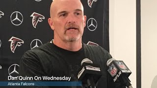 Falcons coach Dan Quinn discusses the linebackers