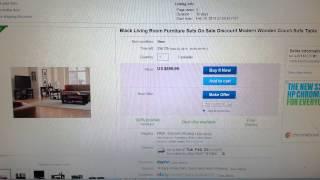 Black Living Room Furniture Sets On Sale Discount