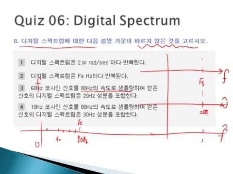 [Signal Processing First] Ch4 Sampling and Aliasing -Quiz 해설