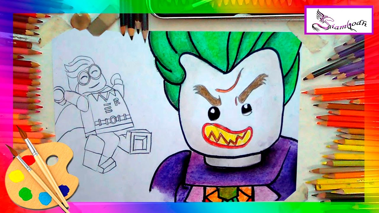 d22365416 Robin Y Joker Dibujos en la Pelicula Lego Batman Tutorial de Dibujo Fàcil para  Niños