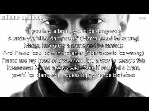 Eminem: Brainless - Lyrics On Screen + Description (Original Voices)