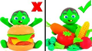 Healthy Food VS Fast Food ❤ Cartoons For Kids