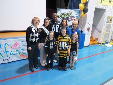 Fred L. Aiken Elementary School:  It Starts With Breakfast Program (Kelvin Beachum Visit)