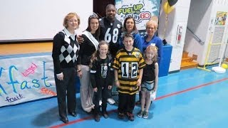 Fred L. Aiken Elementary School:  It Starts With Breakfast Program (Kelvin Beachum Visit)