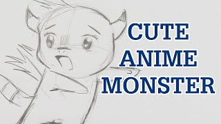 How to Draw a Cute Anime Monster