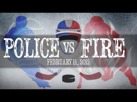 Police Vs. Fire Hockey Game 2-11-2012