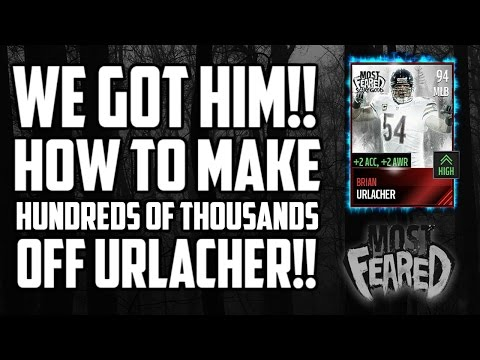 WE GOT MOST FEARED BRIAN URLACHER! MAKING COINS INSTANTLY IN Madden Mobile 17!!