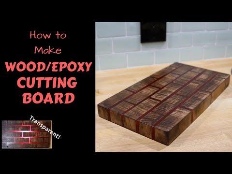 How I made a Wood/Epoxy cutting board made to look like Bricks
