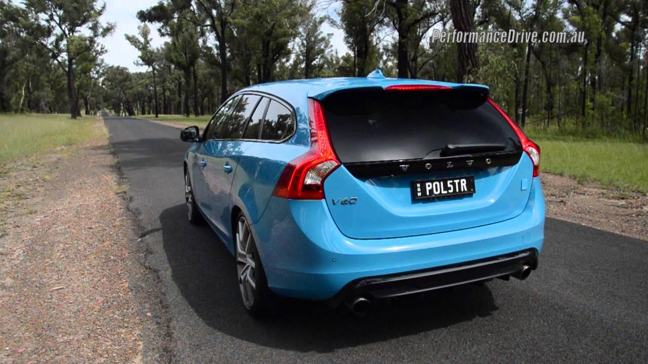 2015 Volvo V60 Polestar 0 100km H Engine Sound Youtube