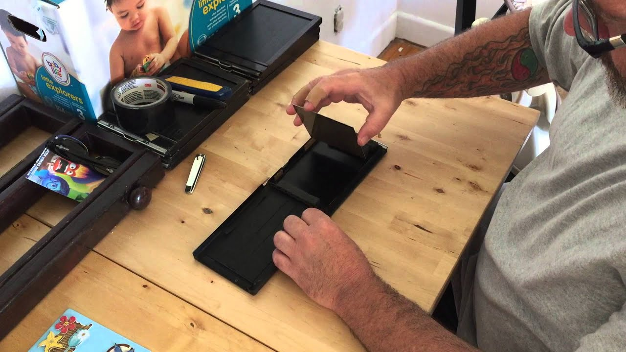 DIY 4x5 Wetplate holder. & DIY 4x5 Wetplate holder. - YouTube