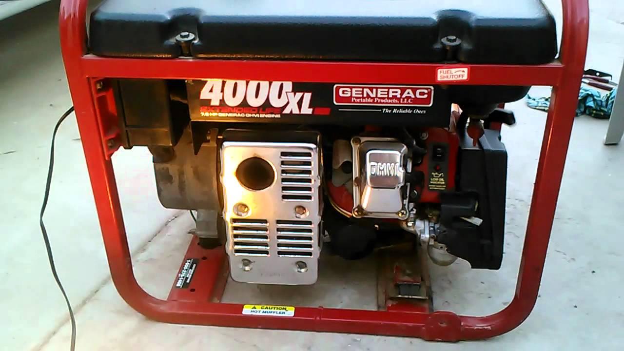 Generac xl 4000 youtube for Who makes generac motors