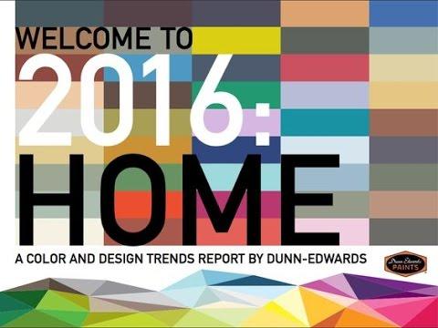 2016 Color Trends Dunn Edwards Paints