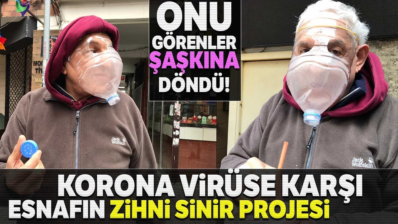 Kadıköy'de Esnafın Korona Virüse Karşı Pet Şişeden Maske Yaptı