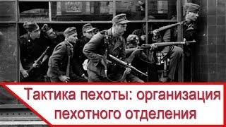 Тактика пехоты: организация пехотного отделения во Второй Мировой войне