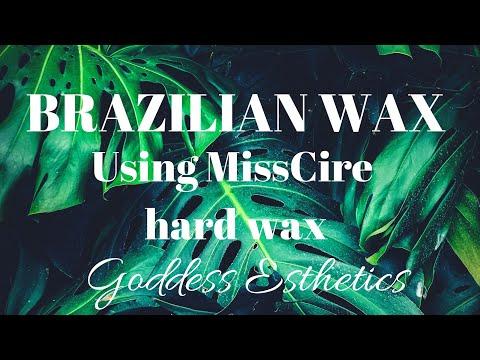 BRAZILIAN WAX USING MISSCIRE MADEMOISELLE HARD WAXGODDESS ESTHETICS