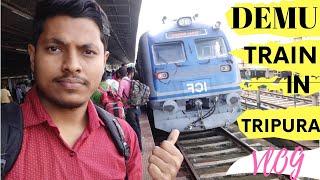 Demu Train in Tripura|full vlog| all details|ত্রিপুরাতে চালু হওয়া নতুন ডেমু train 🔥🔥🔥👌👌