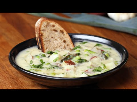 Spring Vegetable Chowder Made Vegan And Delicious • Tasty
