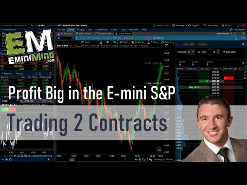 How to Profit Big in the E-mini S&P Trading Just 2 Contracts