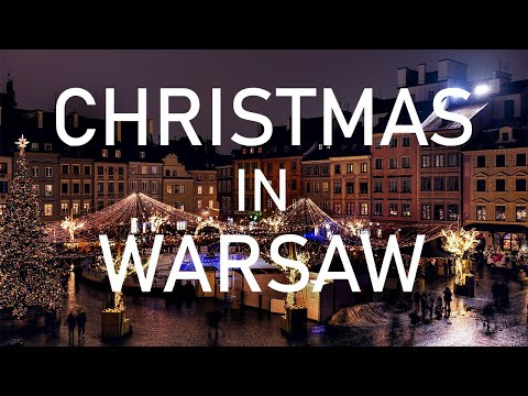 Christmas in Warsaw, Poland in 4K