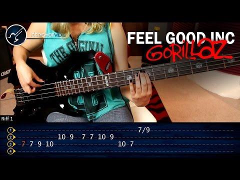 Como tocar Feel Good Inc GORILLAZ En Bajo | Super Facil Principiantes