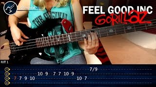 Como tocar Feel Good Inc GORILLAZ En Bajo | Super Facil Principiantes
