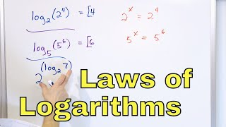 18  Properties of Logarithms (Log x)  Part 1  Laws of Logs  Calculate Logs & Simplify