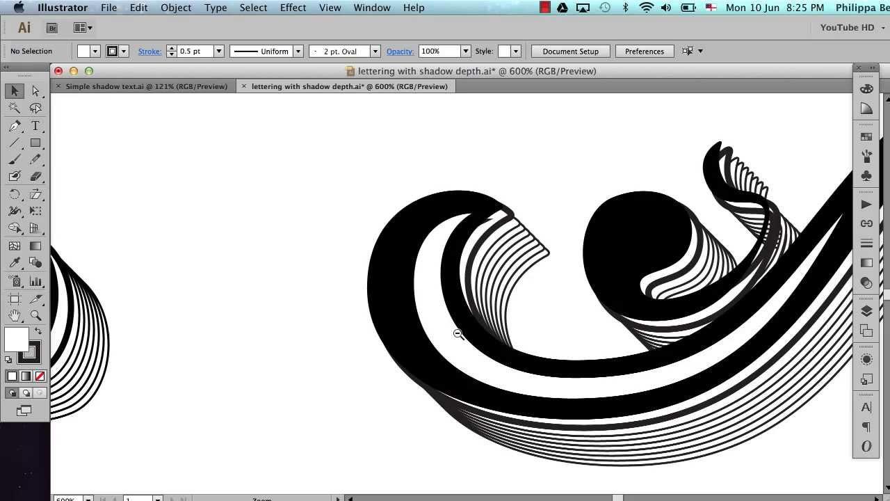 Decorative text shadowing in Illustrator - tutorial