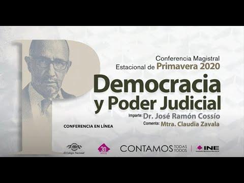 El INE presentó la Conferencia Magistral Estacional de Primavera 2020, Democracia y Poder Judicial