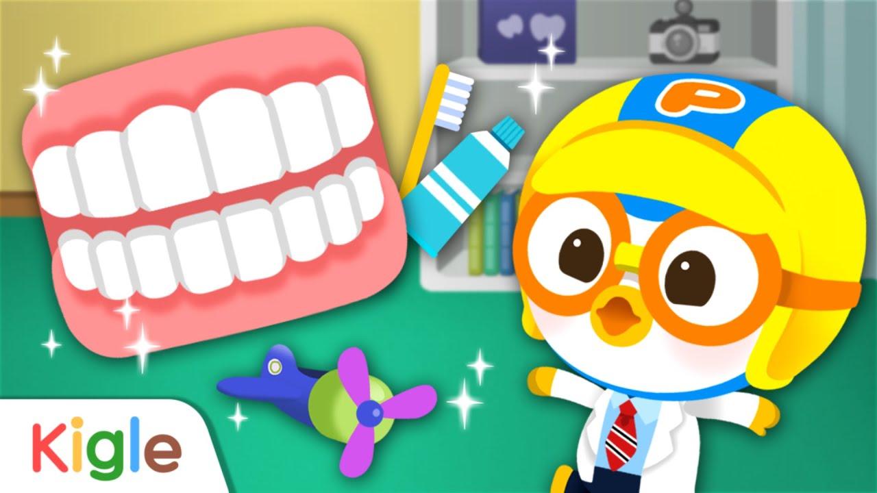 뽀로로 치과의사 앱 이어보기   치과치료   뽀롱뽀롱 뽀로로   키글 TV