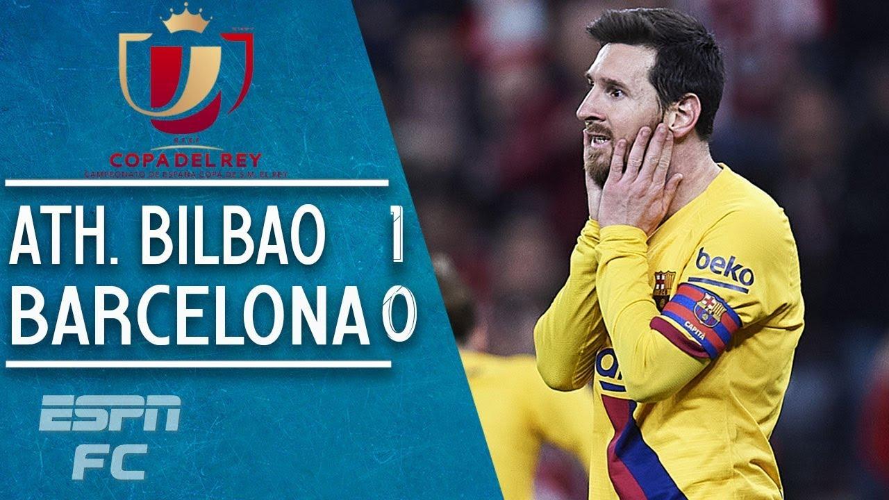 Barcelona vs. Athletic Bilbao score: Barca upset in Spanish Super ...
