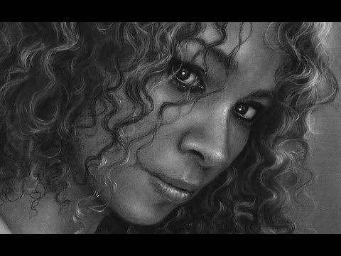 Realistic portrait, drawing by Gerardo Monroy Vergara. Charcoal on paper.