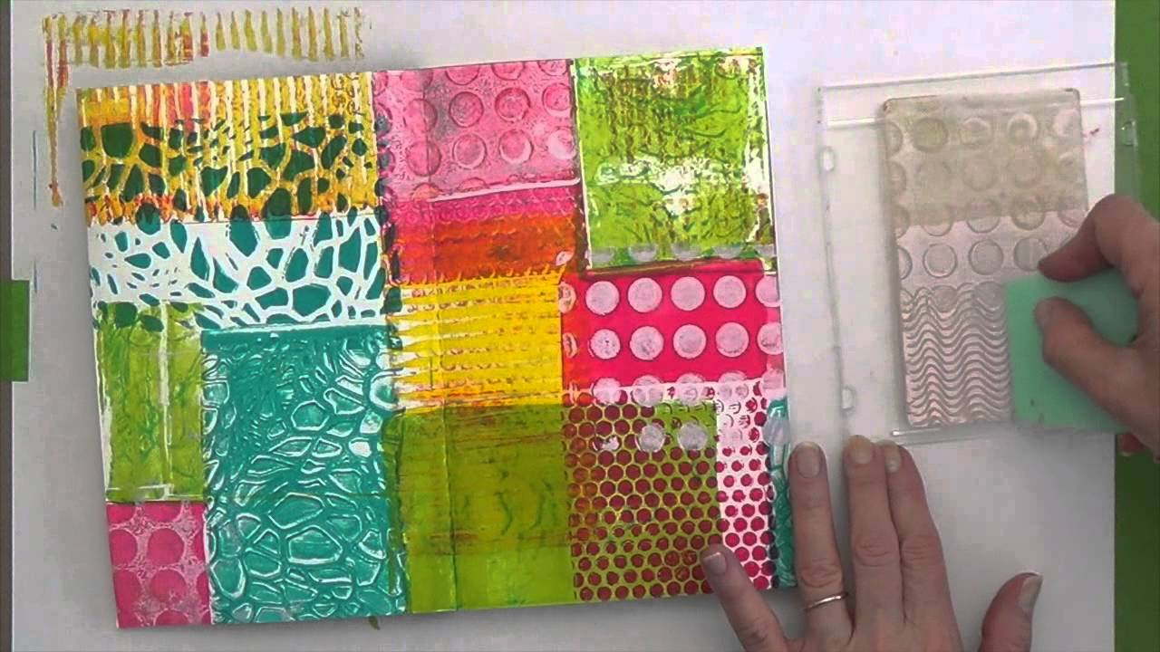 Stamping with gelli arts youtube baditri Gallery