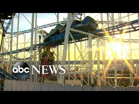 2 people fall 30 feet from derailed roller coaster