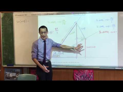 Compound Angle Identities (1 of 3: Proving sin(a+b) geometrically)