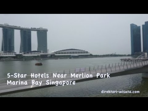 5-Star Hotels Near Exotic Marina Bay Sands In The Tourist Area Of Marlion Park Singapore