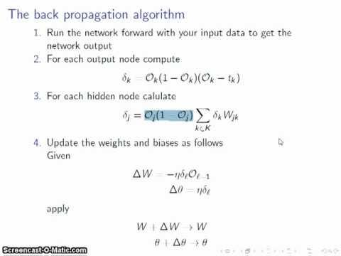 Neural network tutorial: The back-propagation algorithm (Part 2)