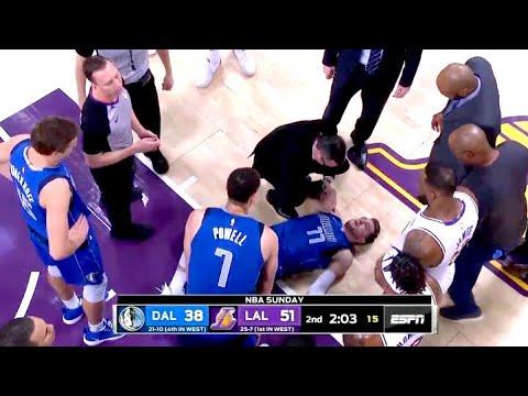 Luka Doncic Fell Down Hard Mavericks Vs Lakers 12 29 2019