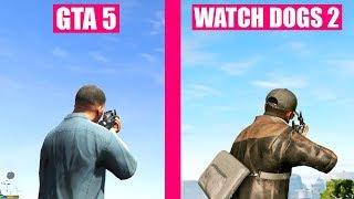 GTA 5 Gun Sounds vs Watch Dogs 2