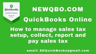 QuickBooks Online - How to Manage Automated SALES TAX - Set Up, Collect, Record Tax Payment
