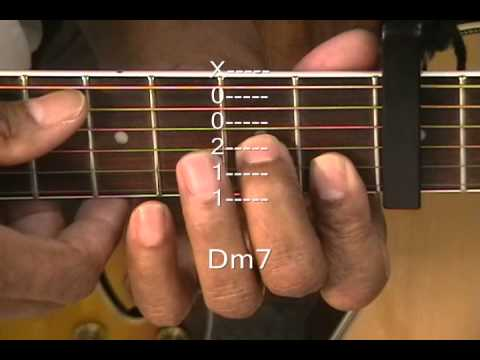 Guitar guitar chords dm7 : Guitar Chord Form Tutorial #41 How To Play Bridgit Mendler Style ...