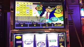 "VGT Slots $25 Mr. Moneybags ""Red Screen Without A Cherry"" Good Win.  Choctaw Gaming Casino, Durant"