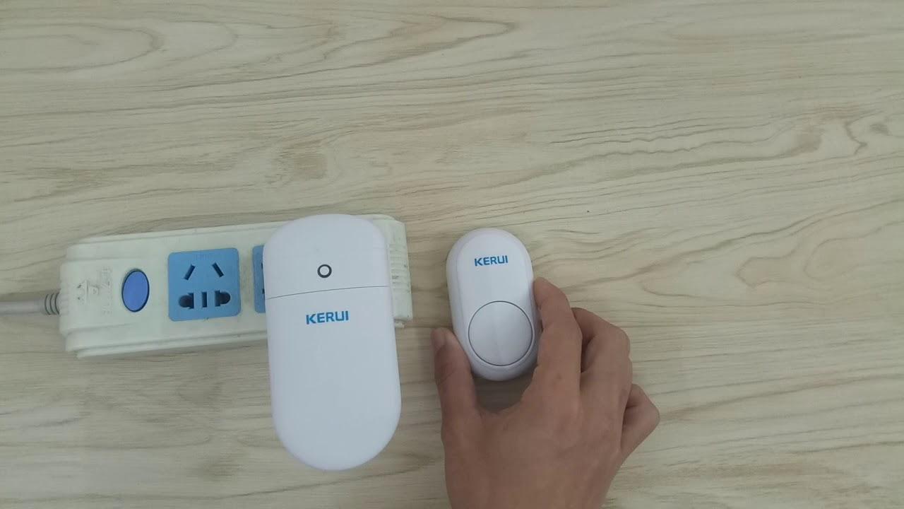 KERUI no battery required wireless doorbell - YouTube