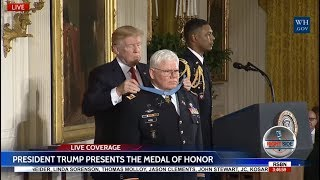 WATCH: President Trump Presents the Medal of Honor to Vietnam Army Medic 10/23/17