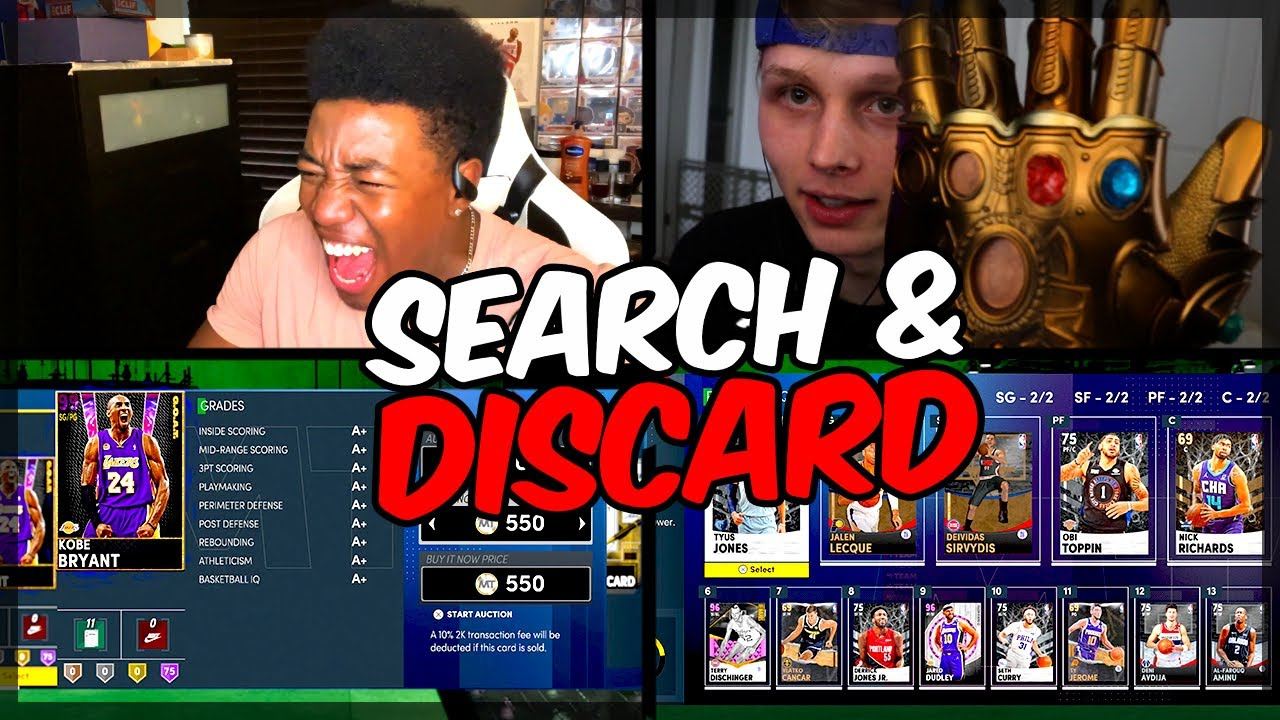 CRAZIEST G.O.A.T. KOBE SEARCH AND DISCARD VS. DENVERSTRUCK! LOSER ALSO HAS TO EAT THIS..... NBA 2k21