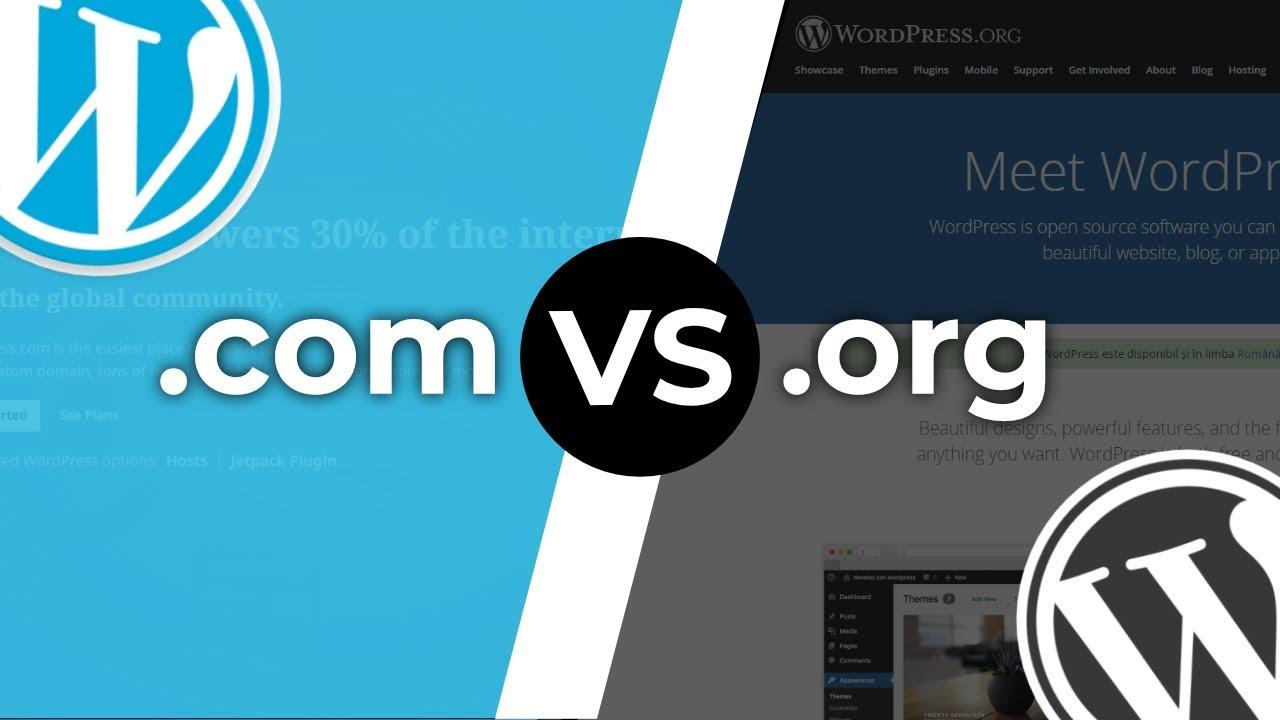WordPress com vs WordPress org - What's the Difference?