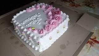 Торт для девушки. Украшение БЗКкремом.